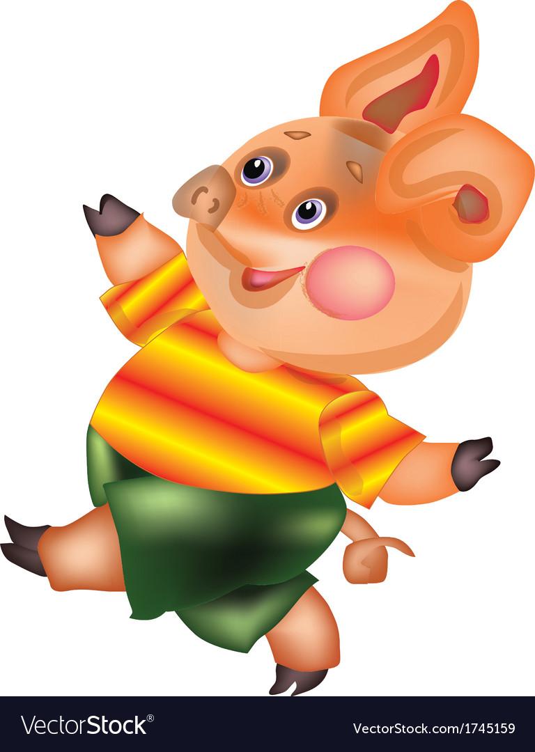 Pig vector | Price: 1 Credit (USD $1)