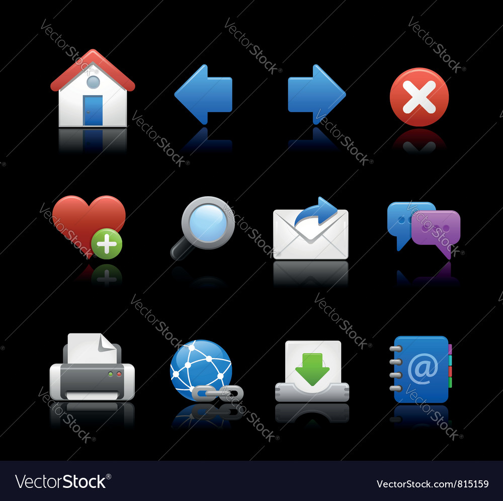 Professional icons navigation black vector | Price: 1 Credit (USD $1)