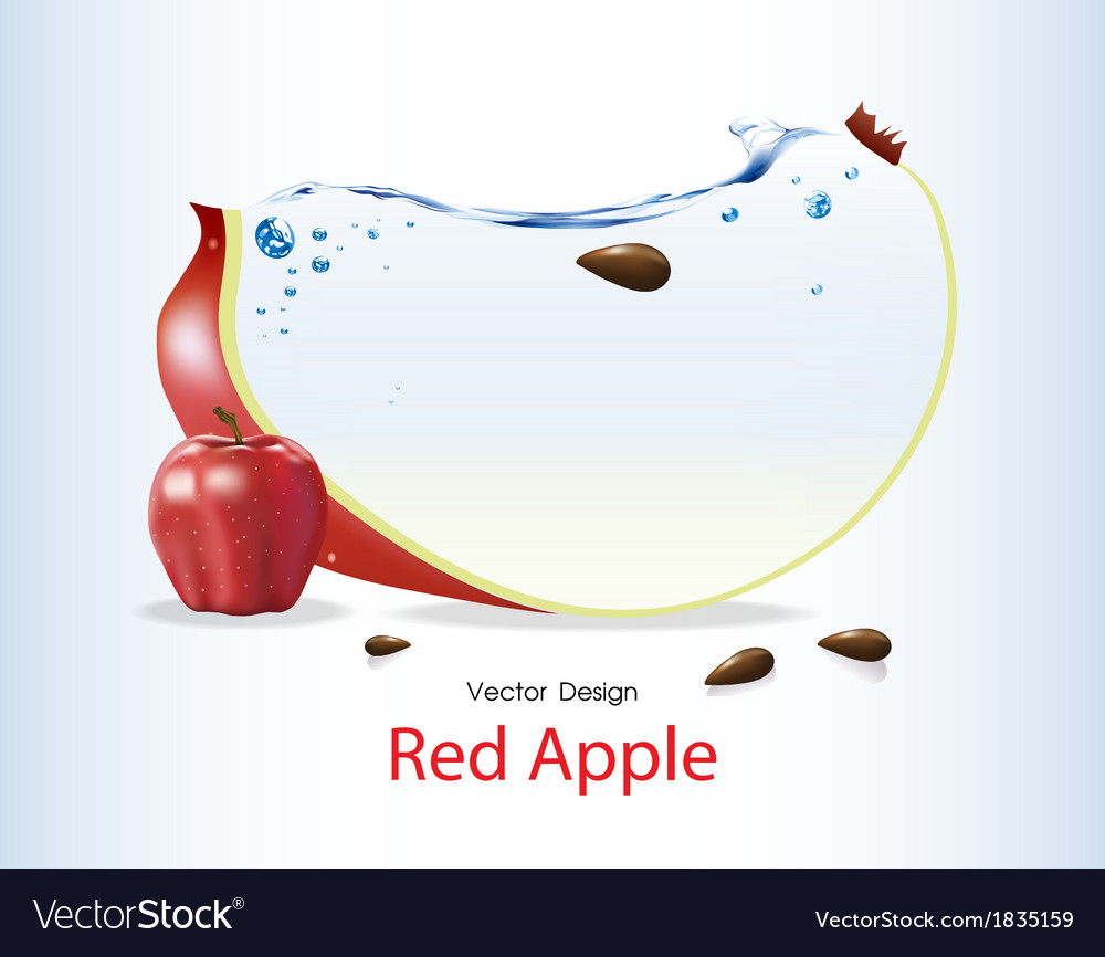 Red apple fruits design vector | Price: 1 Credit (USD $1)