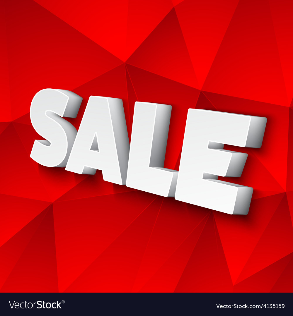 The word sale vector | Price: 1 Credit (USD $1)