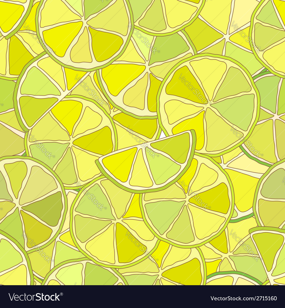 Fresh lime citrus seamless pattern vector | Price: 1 Credit (USD $1)