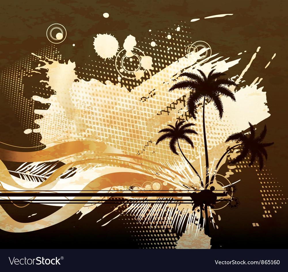 Grunge summer background vector   Price: 1 Credit (USD $1)