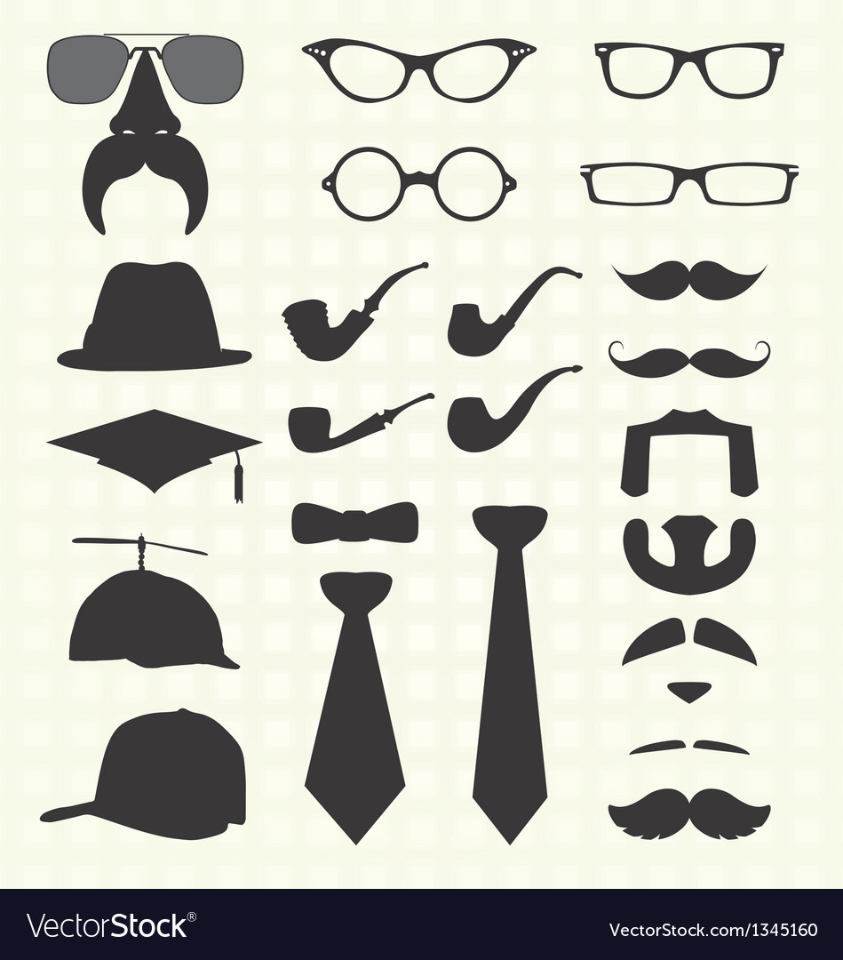 Hats and other fashion elements vector | Price: 1 Credit (USD $1)