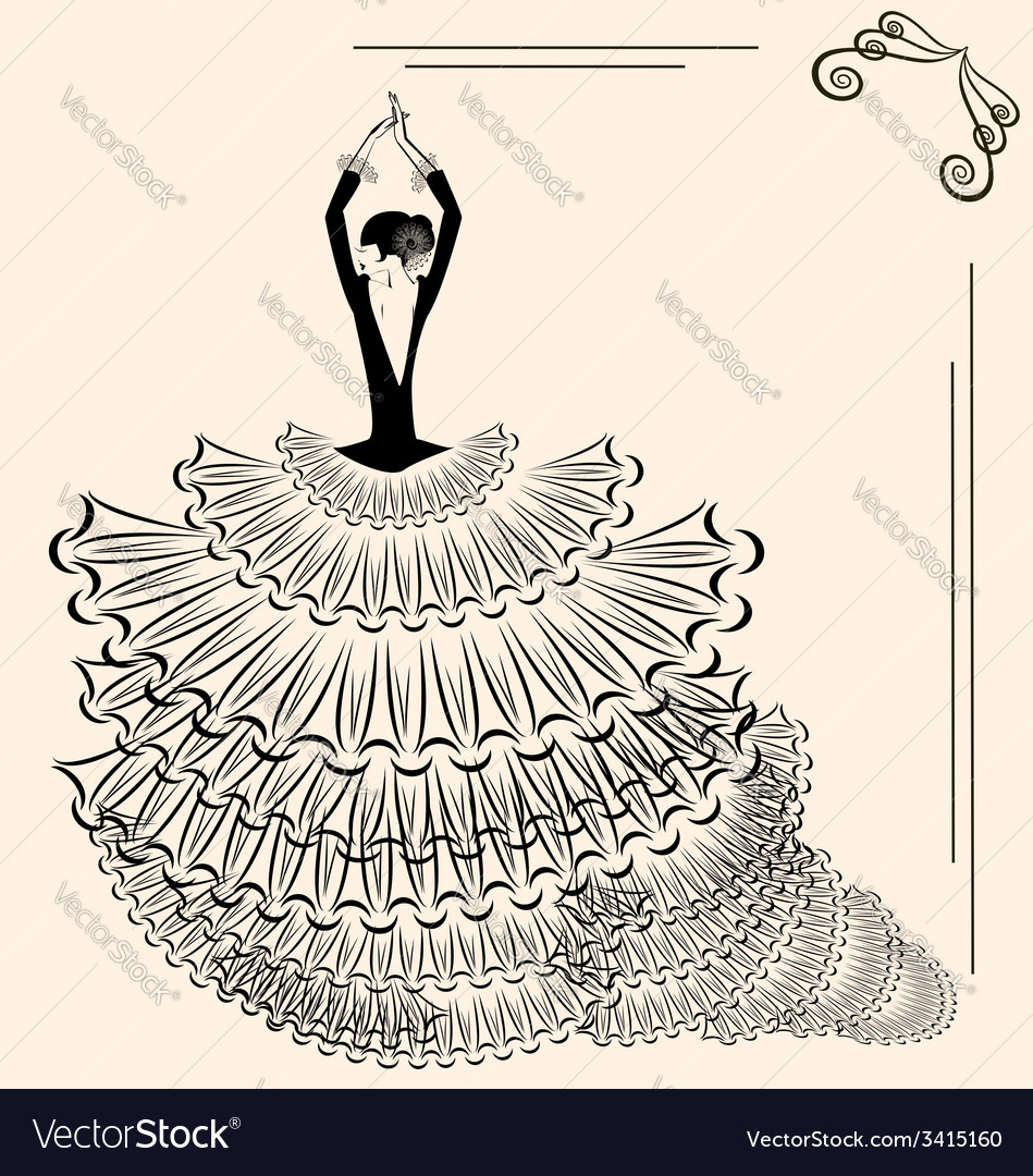 Image of flamenco dancer vector | Price: 1 Credit (USD $1)