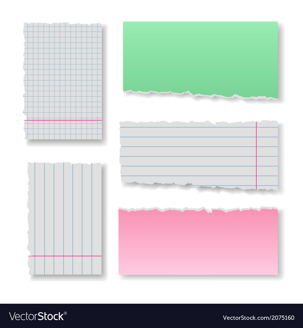 Note paper set vector | Price: 1 Credit (USD $1)