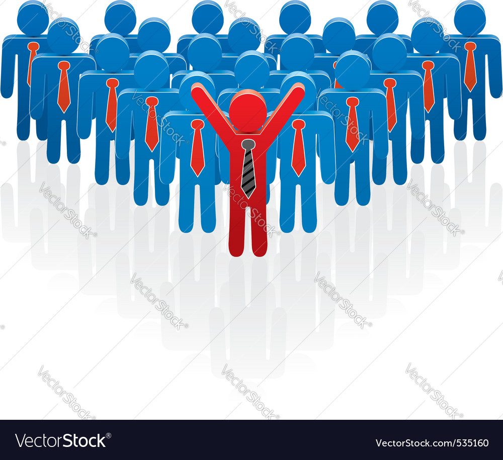 illustration of a team and a leader vector | Price: 1 Credit (USD $1)