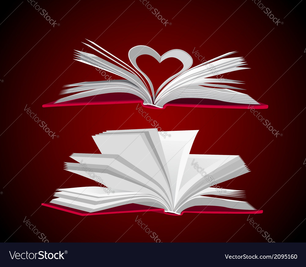 Open book set vector | Price: 1 Credit (USD $1)