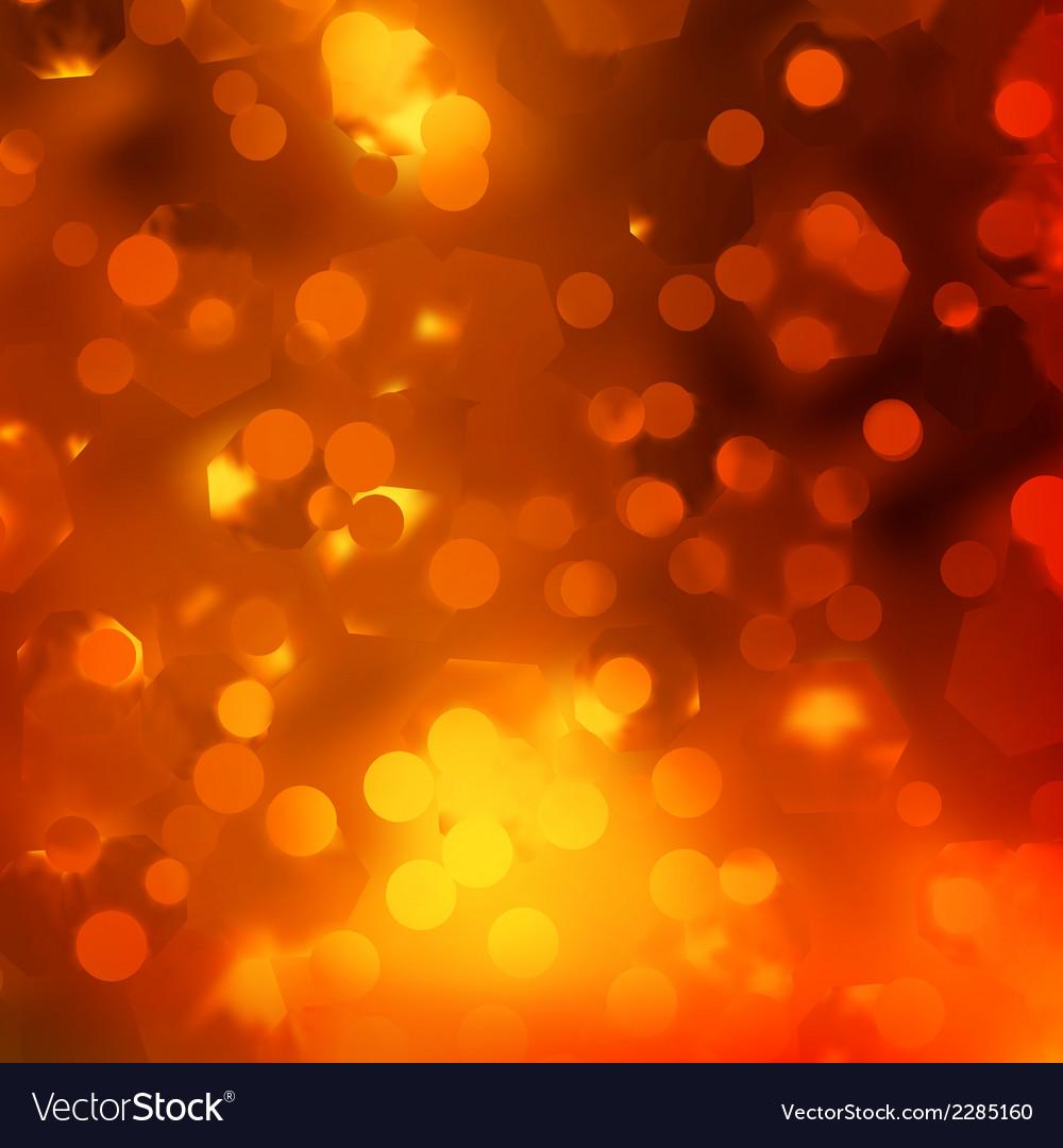 Orange magic lights bokeh eps 10 vector | Price: 1 Credit (USD $1)