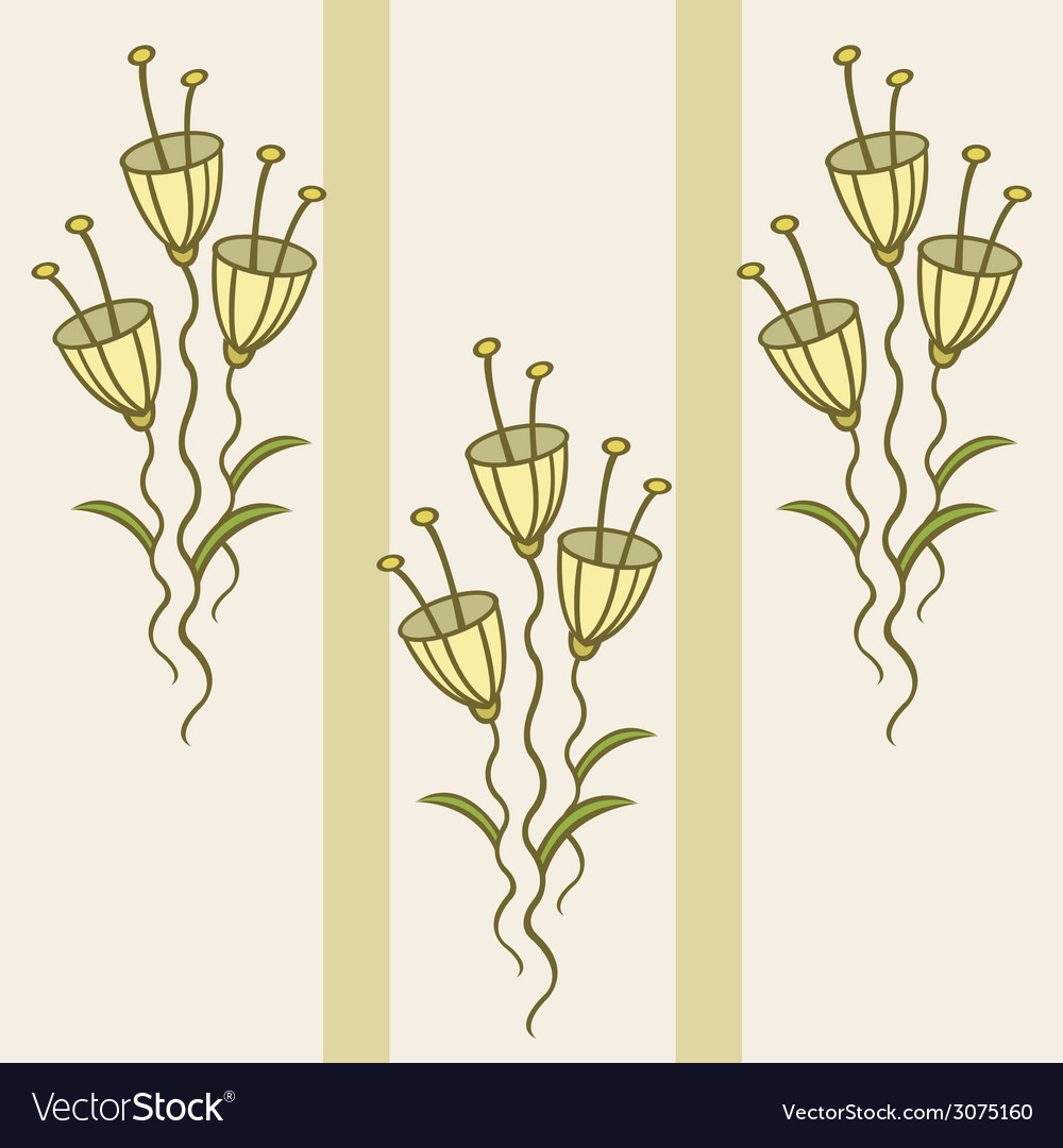 Pattern of delicate flowers vector | Price: 1 Credit (USD $1)