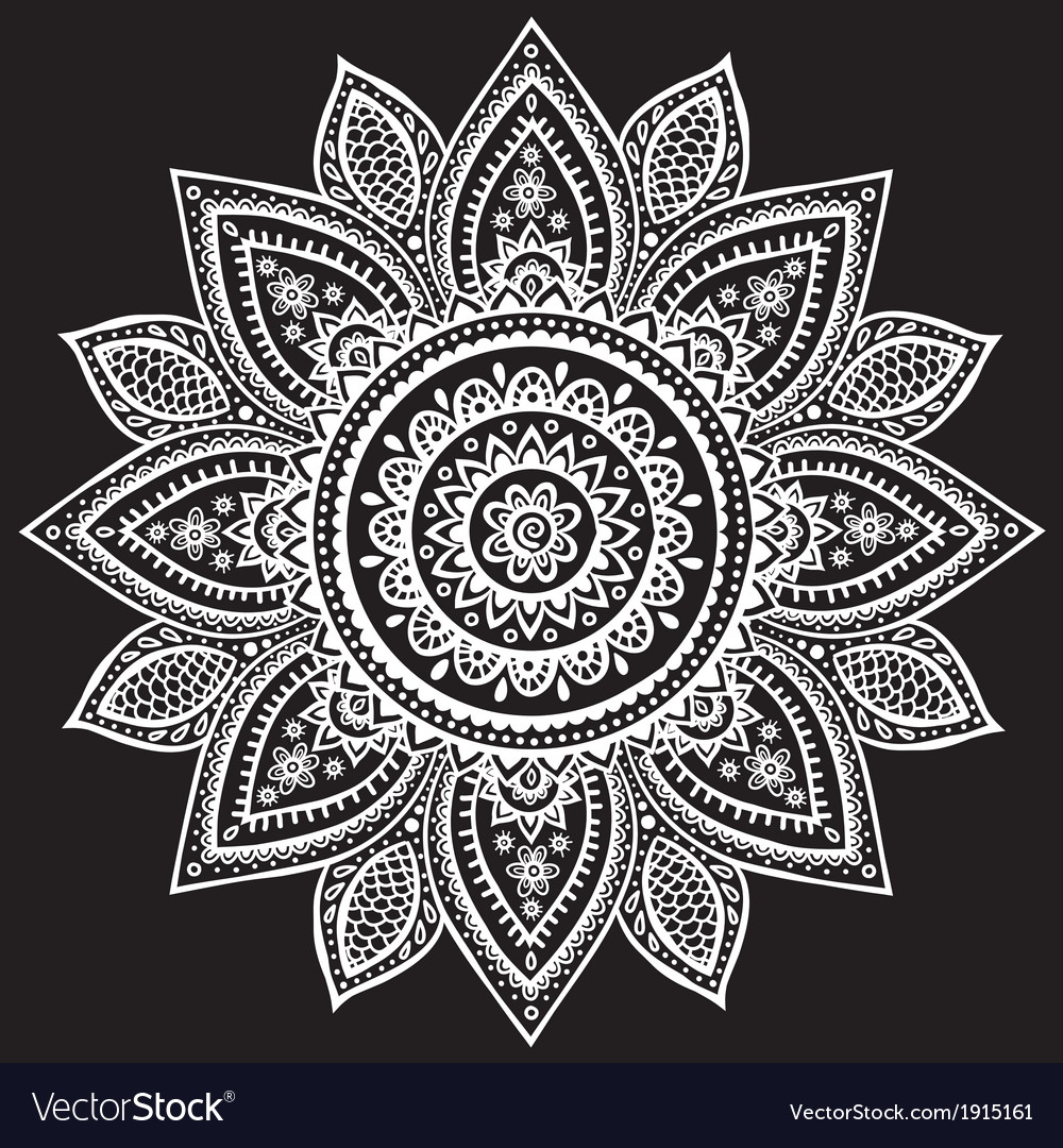 Beautiful vintage indian floral ornament vector | Price: 1 Credit (USD $1)