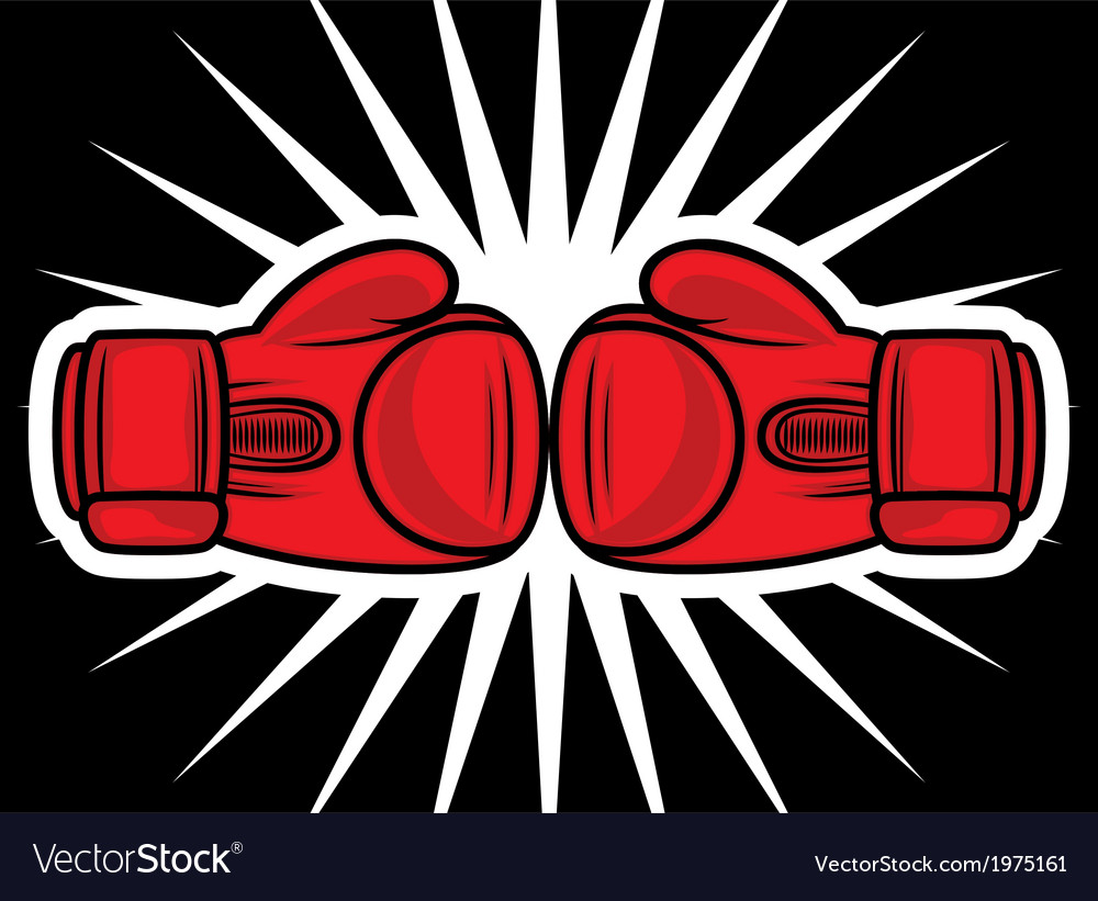 Boxing gloves2 vector | Price: 1 Credit (USD $1)