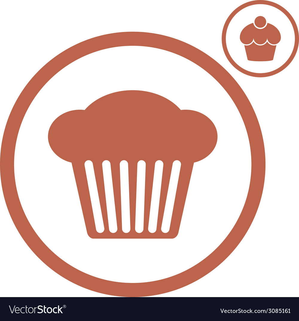 Cupcake icon vector   Price: 1 Credit (USD $1)