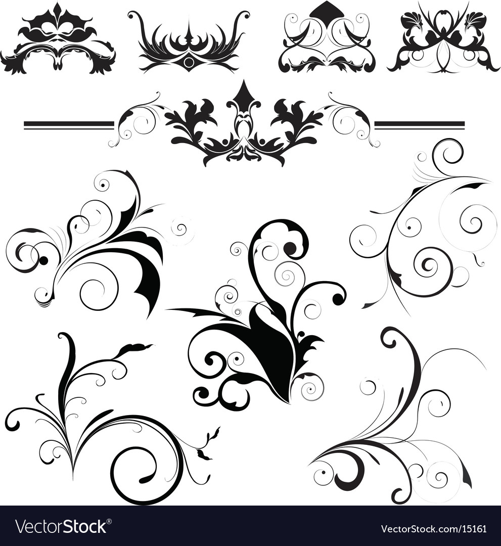 Design elements floral vector | Price: 1 Credit (USD $1)