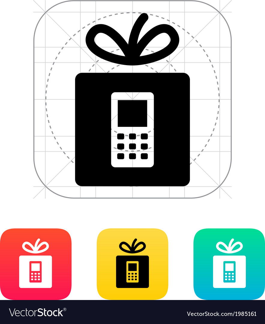 Gift phone icon vector | Price: 1 Credit (USD $1)