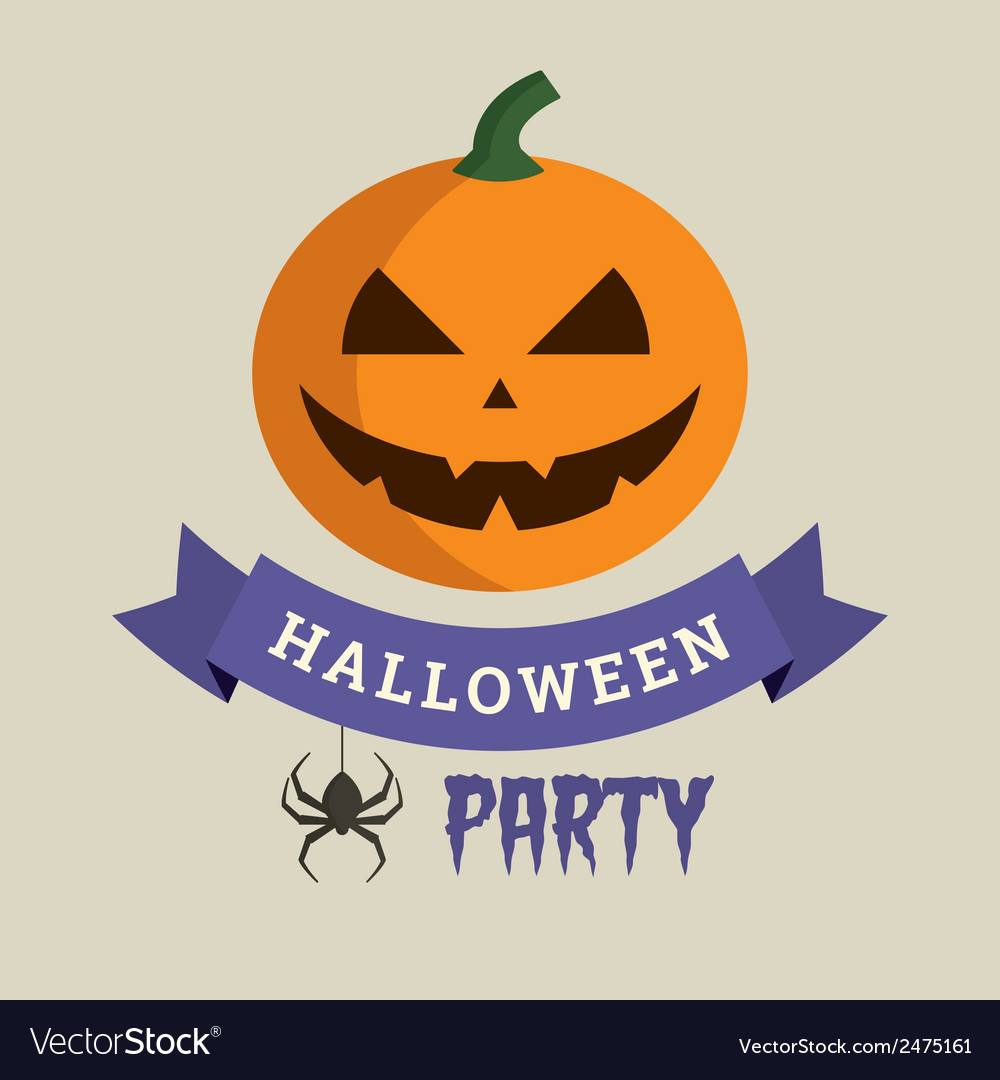 Halloween party pumpkin vector | Price: 1 Credit (USD $1)