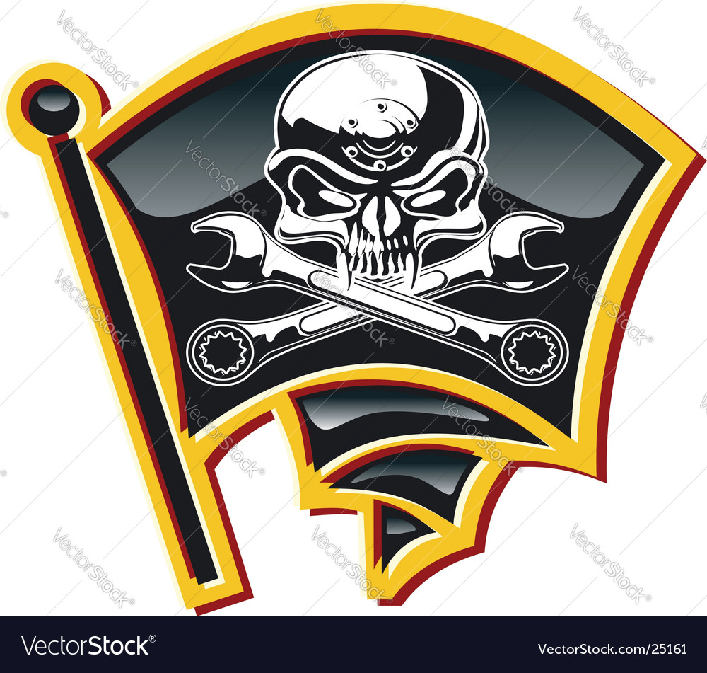 Jolly roger badge vector | Price: 3 Credit (USD $3)