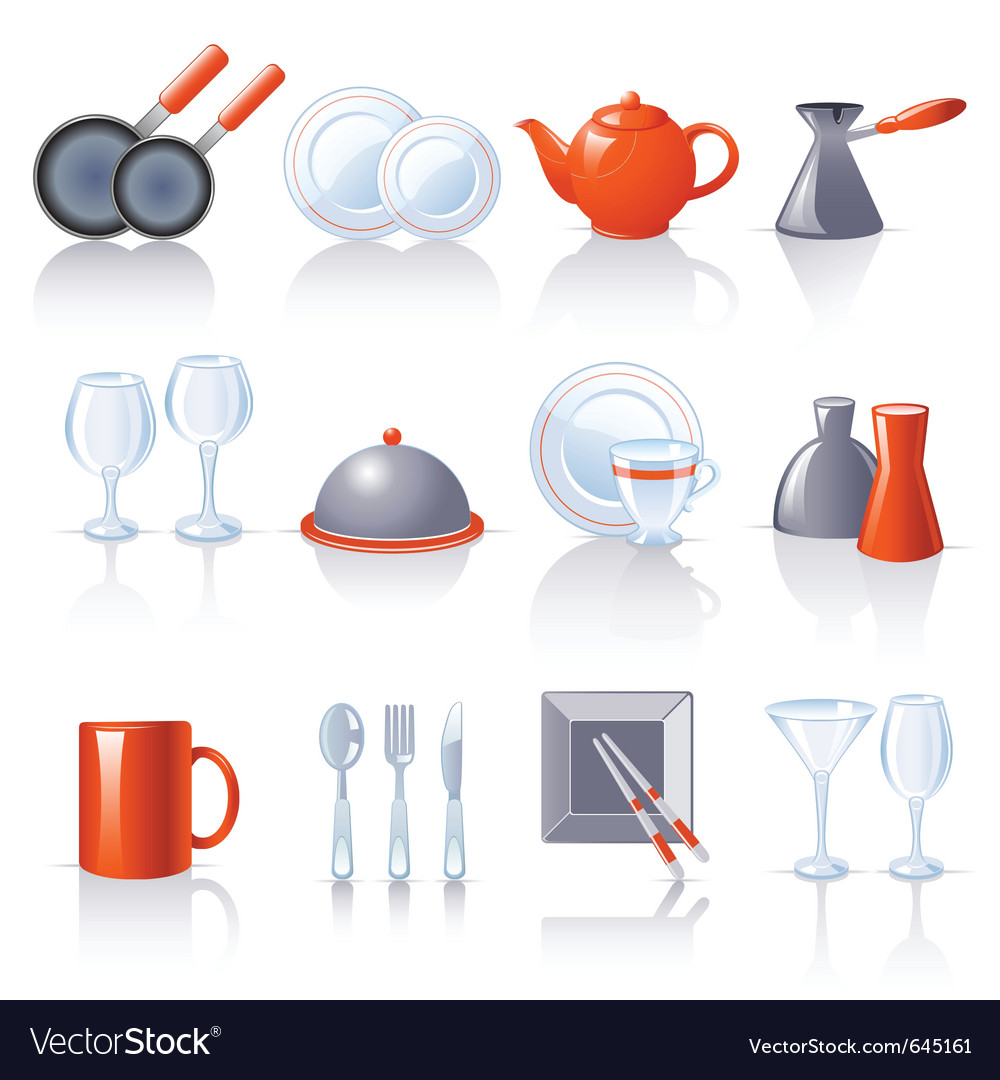 Kitchen utensil icons vector | Price: 1 Credit (USD $1)