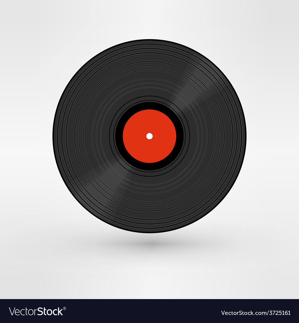 Old retro black record lp eps10 art vector | Price: 1 Credit (USD $1)