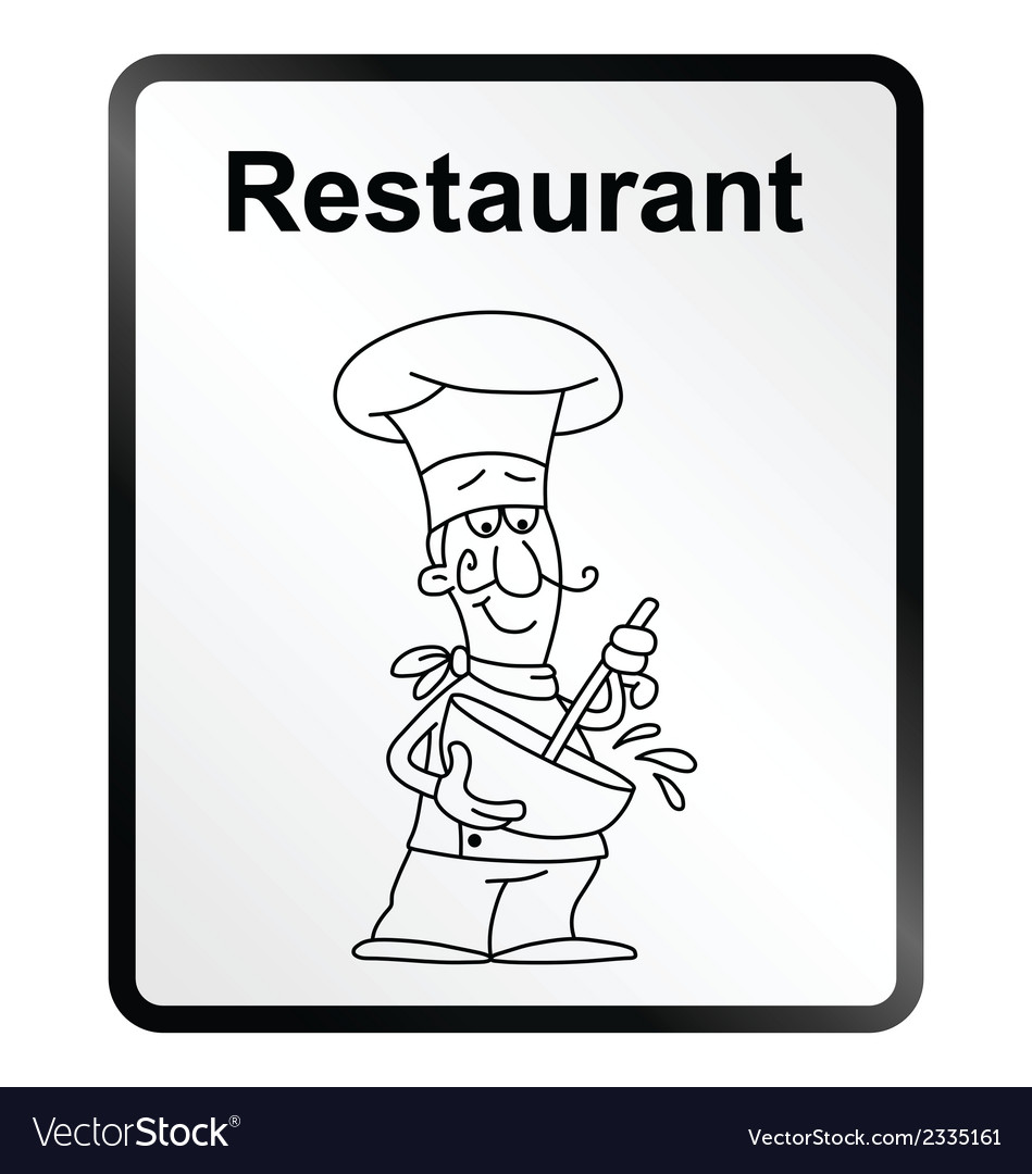 Restaurant information sign vector | Price: 1 Credit (USD $1)