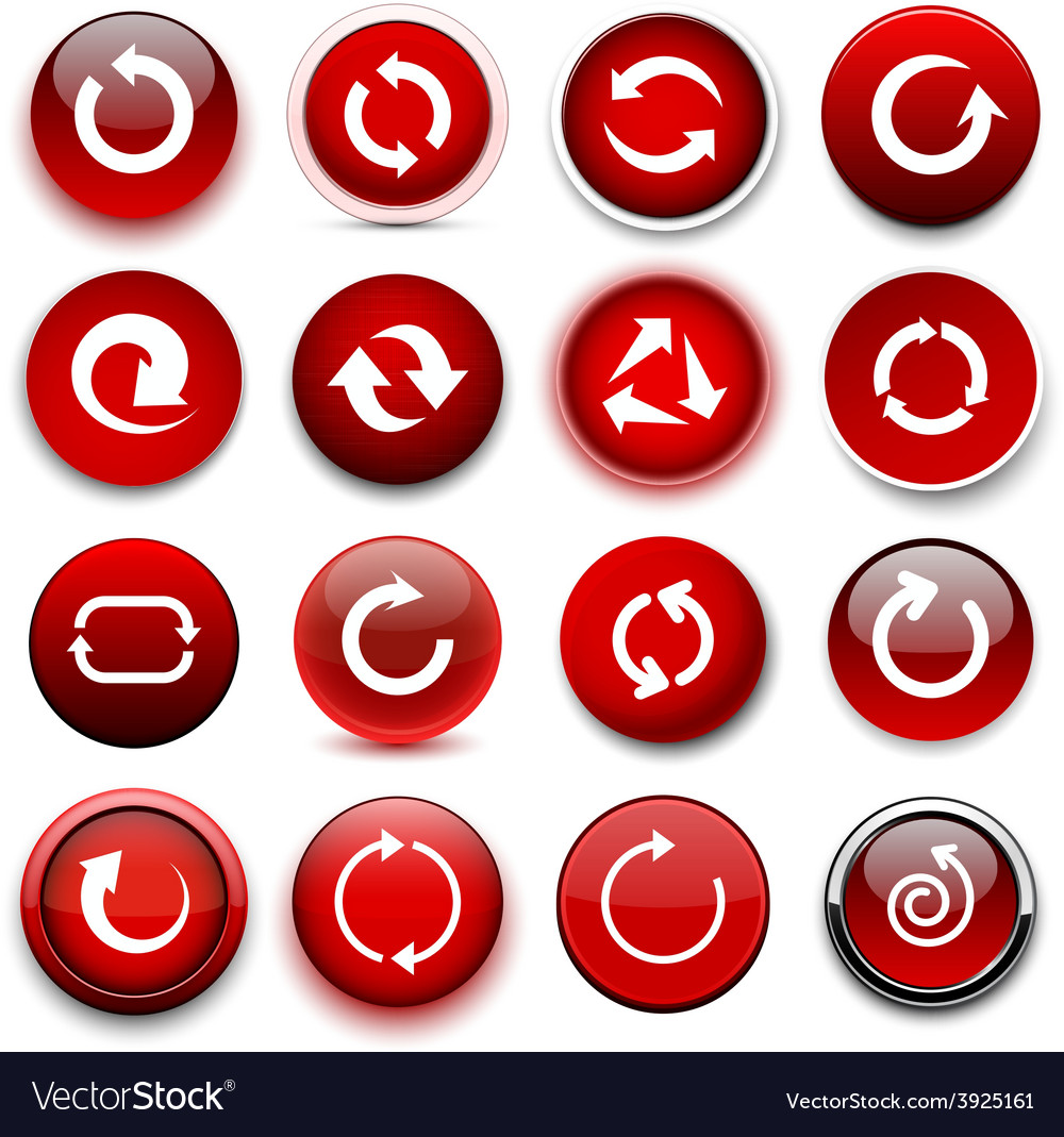 Round red arrow icons vector | Price: 1 Credit (USD $1)