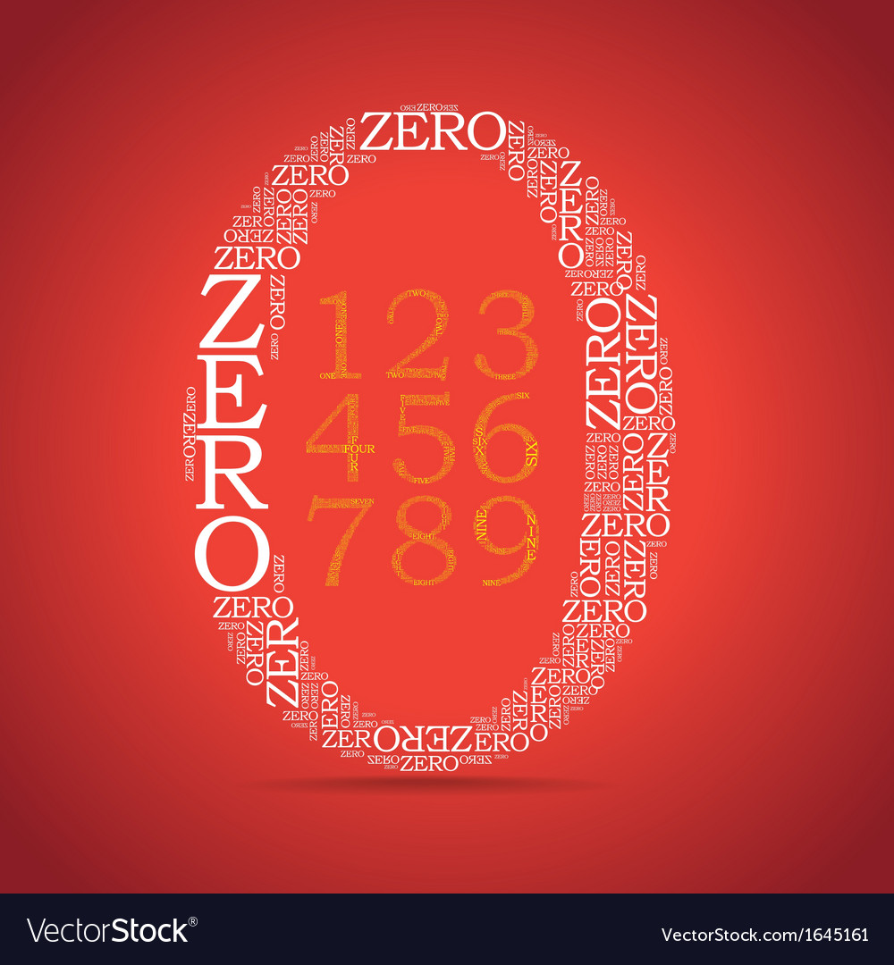 Set of number created from text vector | Price: 1 Credit (USD $1)