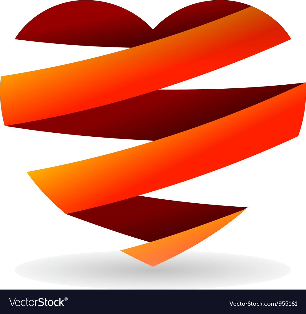 Sliced red heart vector | Price: 1 Credit (USD $1)