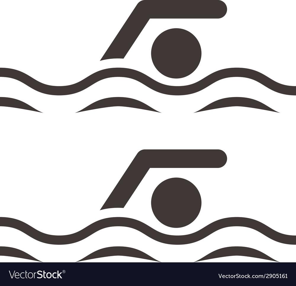 Swimming icon vector   Price: 1 Credit (USD $1)