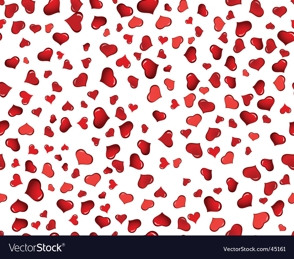 Valentine hearts seamless background vector | Price: 1 Credit (USD $1)