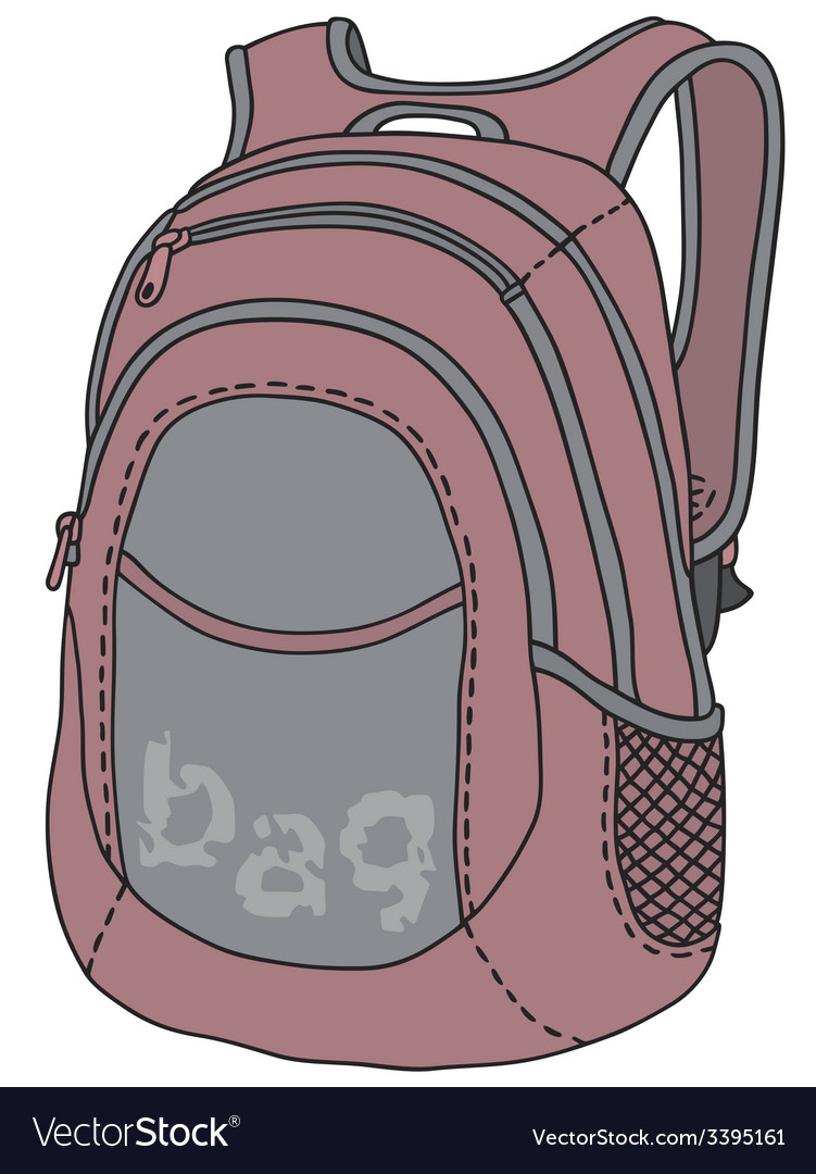 Violet kitbag vector | Price: 1 Credit (USD $1)