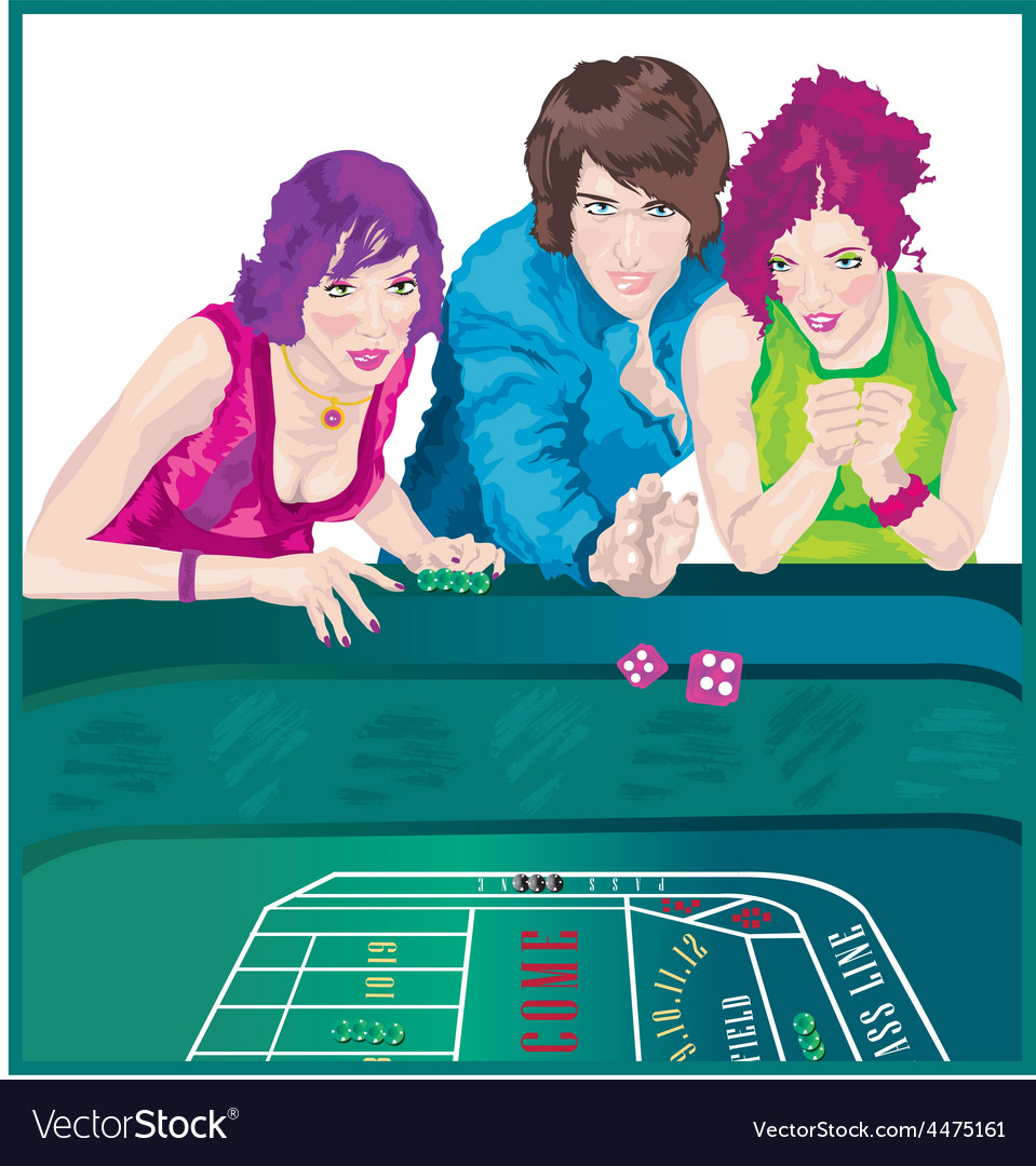 Woman at casino vector | Price: 1 Credit (USD $1)