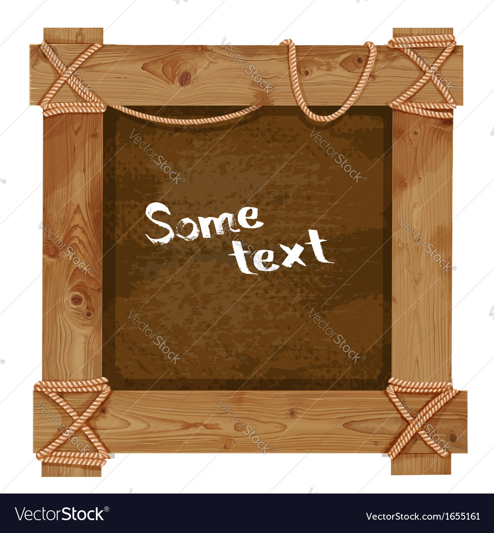 Wooden dark frame fastened together with ropes vector | Price: 3 Credit (USD $3)