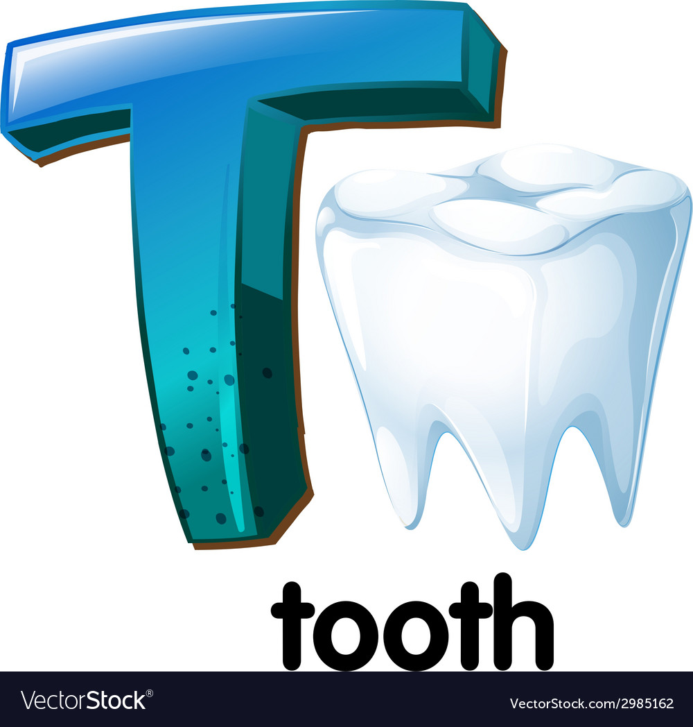 A letter t for tooth vector | Price: 1 Credit (USD $1)
