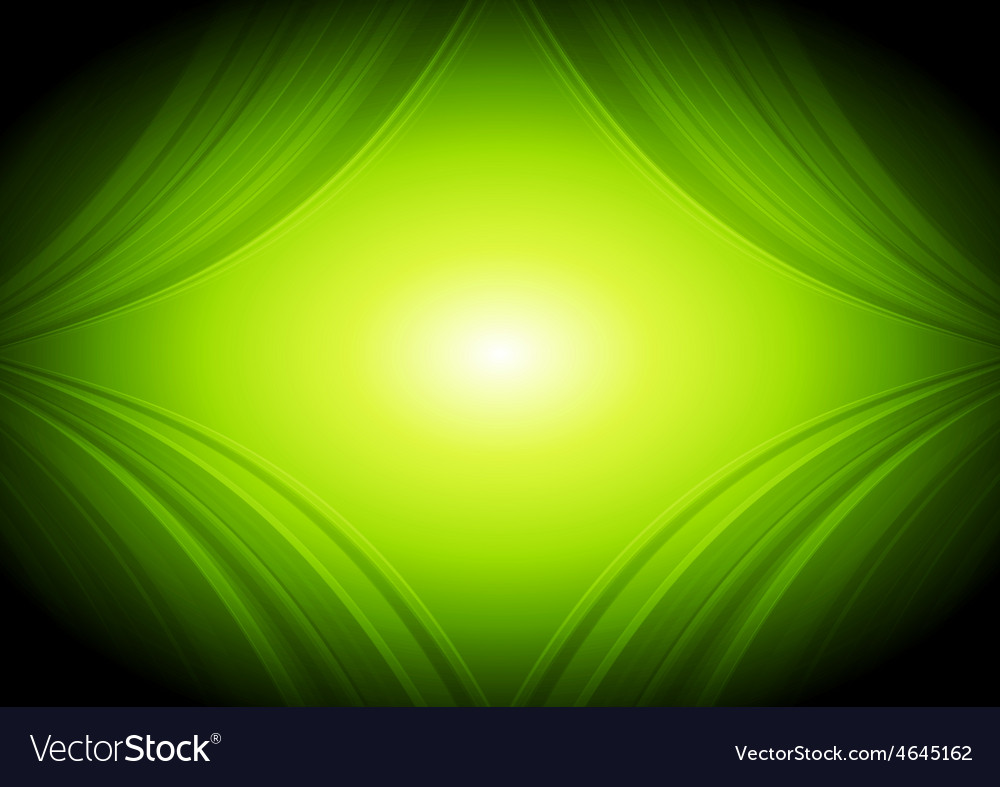 Abstract green waves tech background vector   Price: 1 Credit (USD $1)