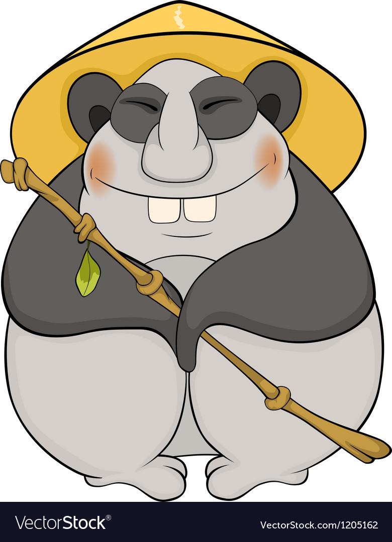 Bear a panda with a hat vector   Price: 1 Credit (USD $1)