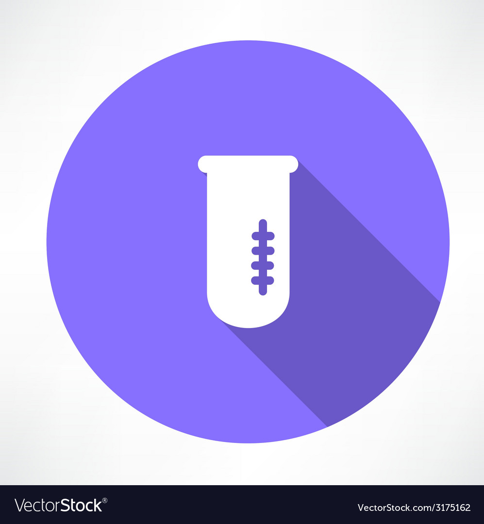 Chemical flask icon vector | Price: 1 Credit (USD $1)