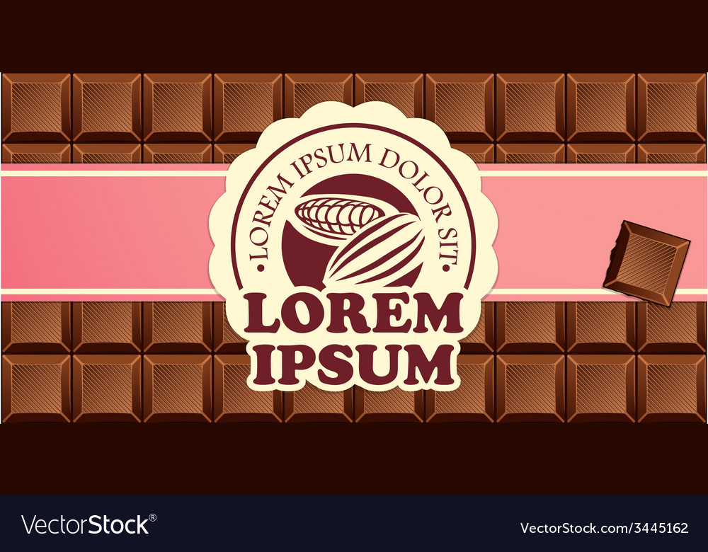 Chocolate bars in ribbon with vintage label vector | Price: 1 Credit (USD $1)