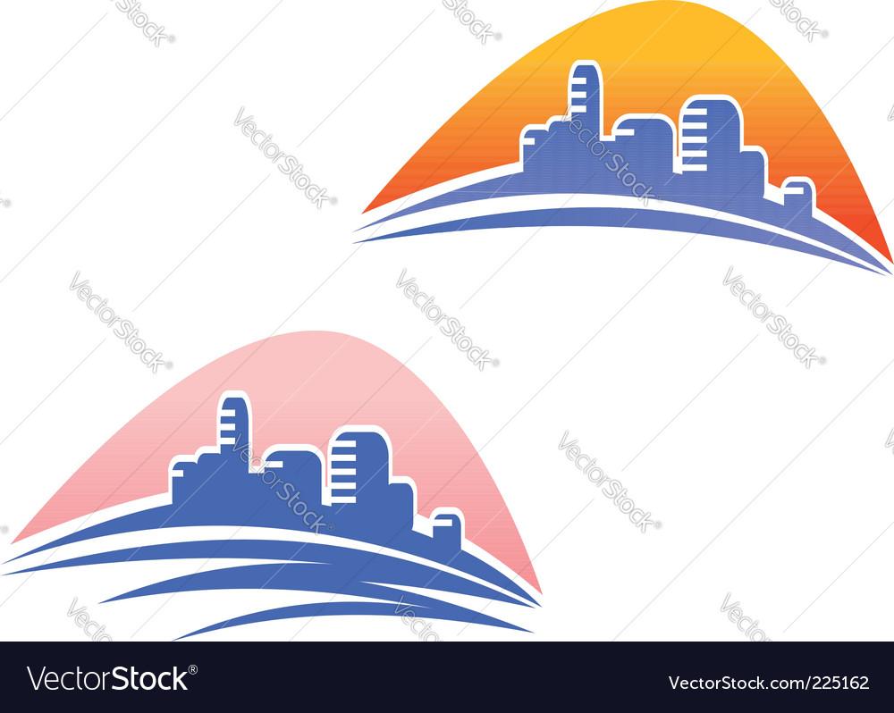 Cityscape symbols vector | Price: 1 Credit (USD $1)