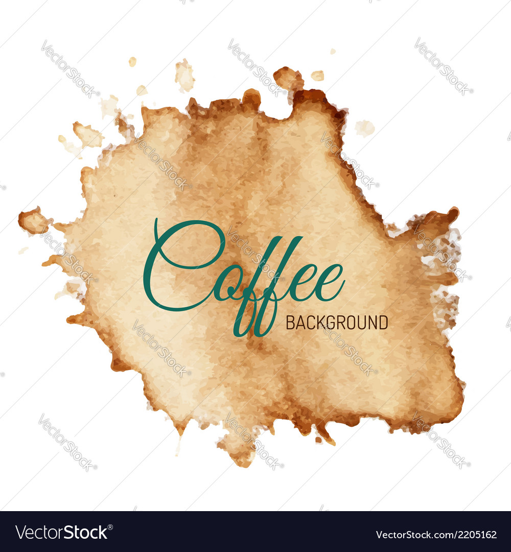 Coffee stain background vector | Price: 1 Credit (USD $1)