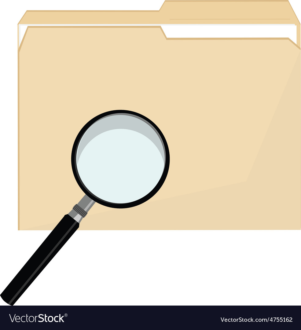 File folder and magnifier vector | Price: 1 Credit (USD $1)