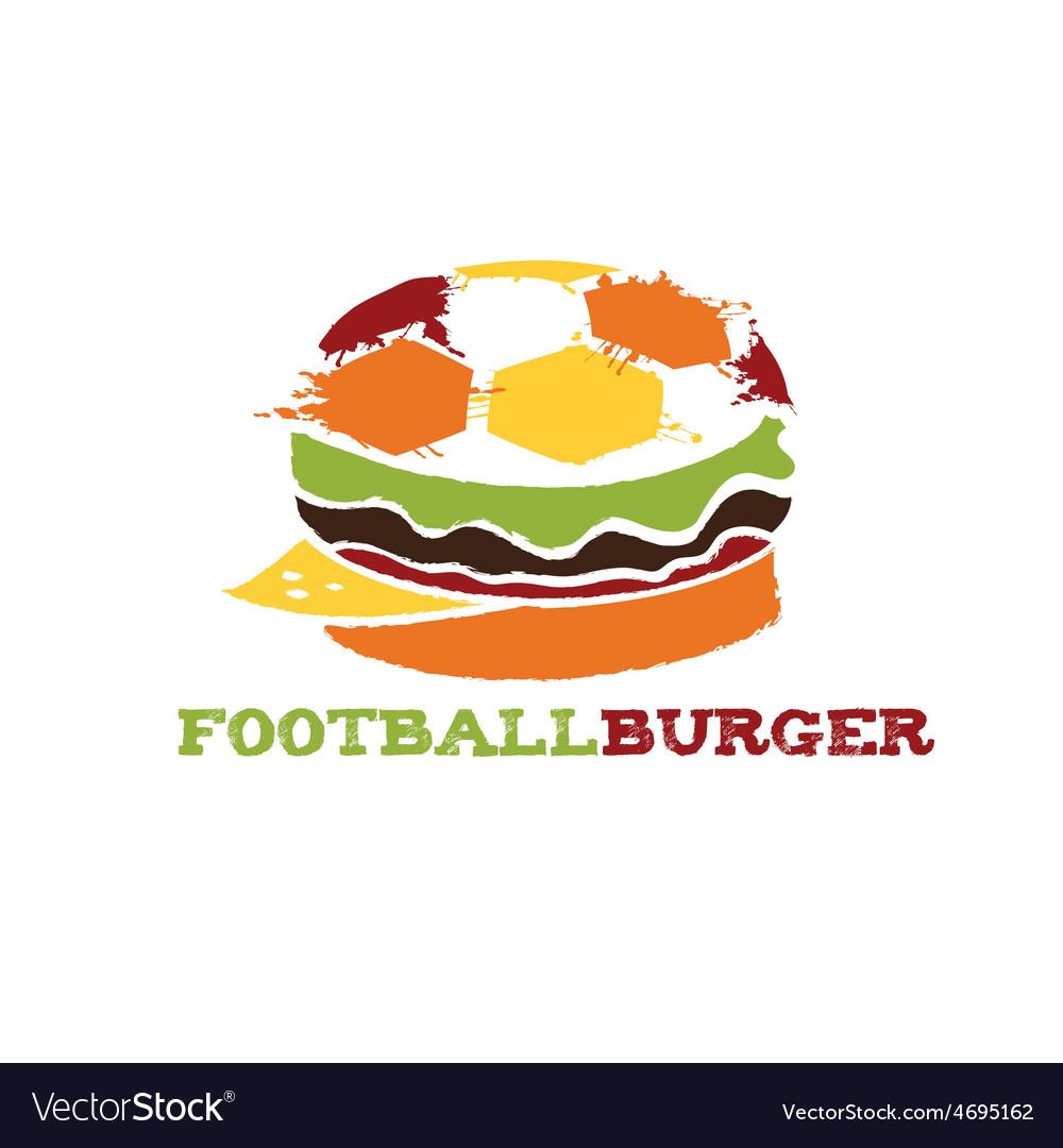Football burger vector   Price: 1 Credit (USD $1)