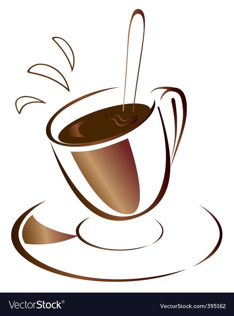 Hot coffee vector | Price: 1 Credit (USD $1)