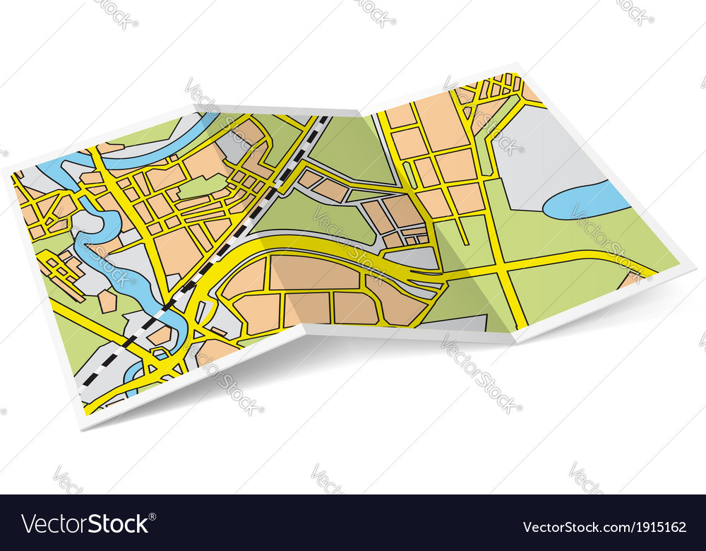 Map booklet vector | Price: 1 Credit (USD $1)