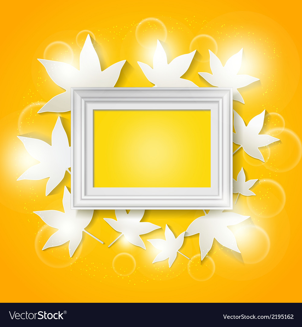 Photo frame with abstract autumn leaves vector | Price: 1 Credit (USD $1)
