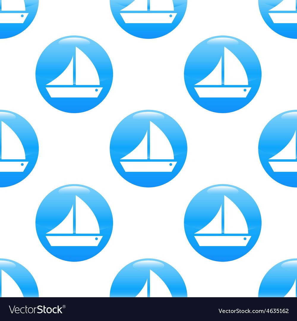 Sailing ship sign pattern vector   Price: 1 Credit (USD $1)