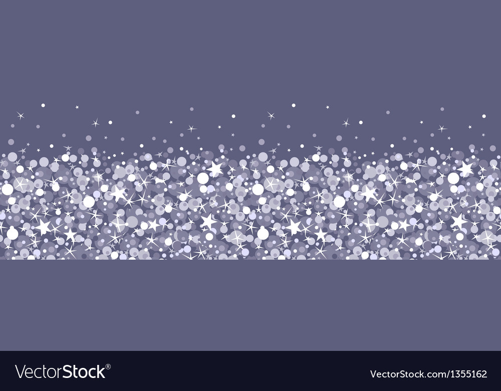 Silver sparkles horizontal seamless pattern vector | Price: 1 Credit (USD $1)