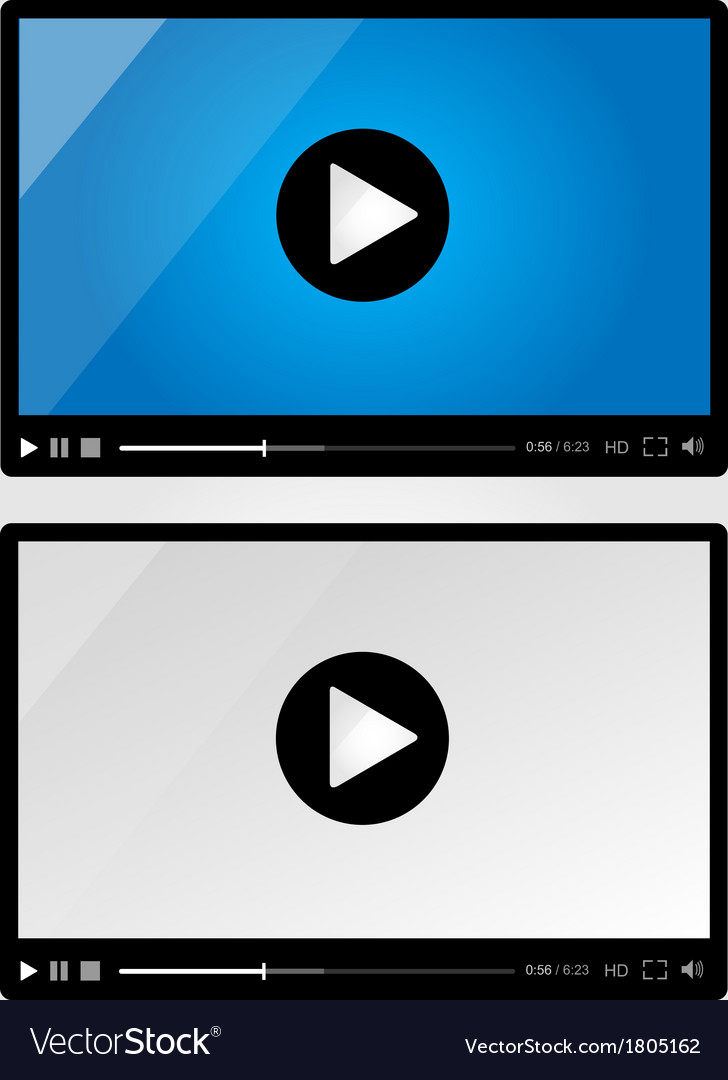 Video player for web - set vector | Price: 1 Credit (USD $1)