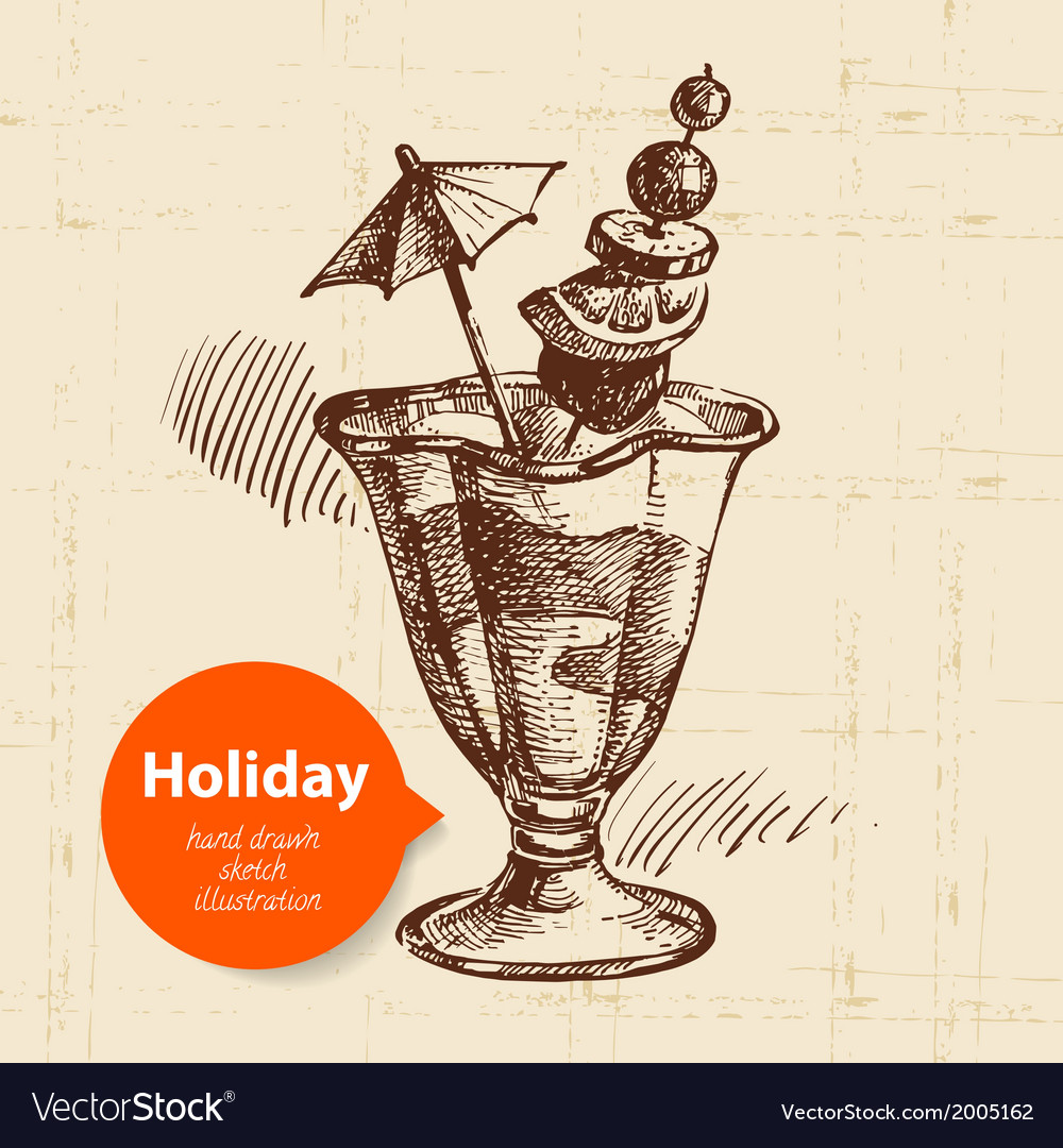 Vintage travel and holiday background vector   Price: 1 Credit (USD $1)