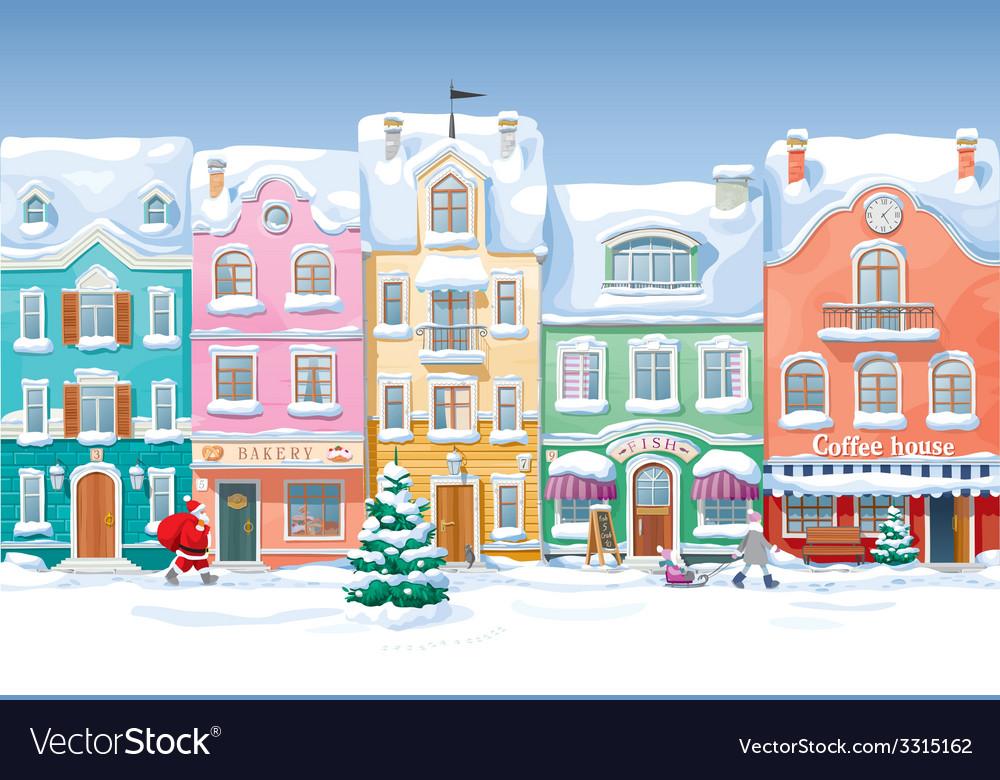 Winter cityscape 4 vector   Price: 3 Credit (USD $3)