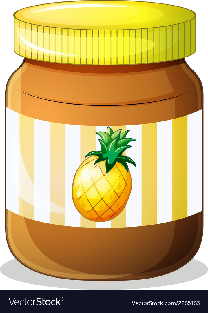 A bottle of pineapple jam vector | Price: 1 Credit (USD $1)