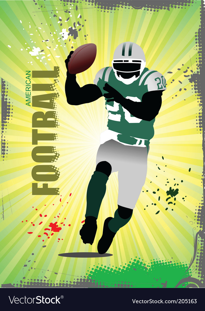 American football poster vector | Price: 1 Credit (USD $1)